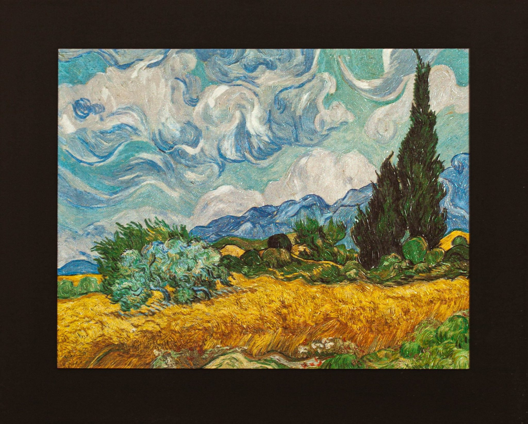 Wheat Field with Cypresses Van Gogh Medium Size