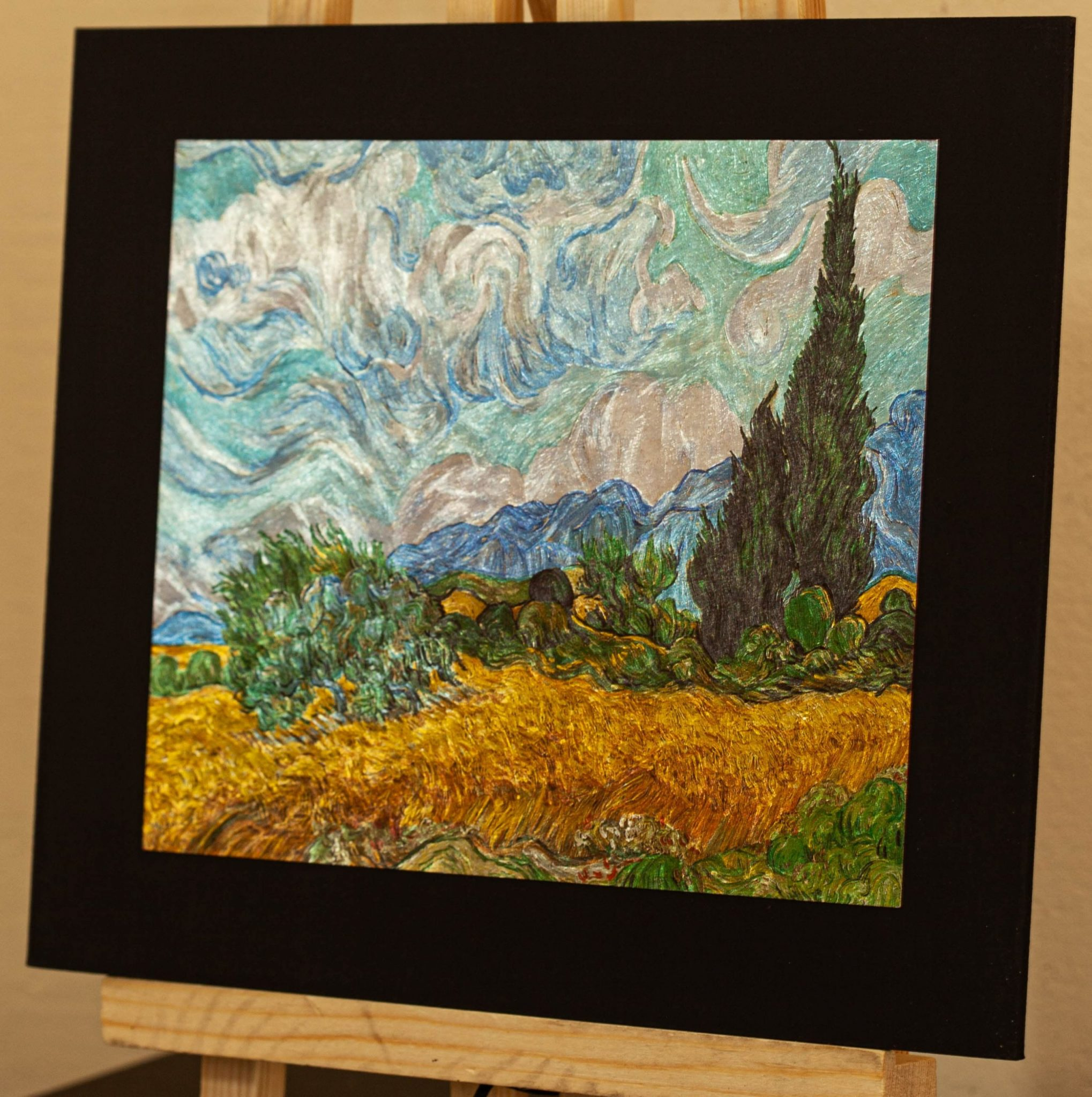 Wheat Field with Cypresses Van Gogh gravure Aluminum print
