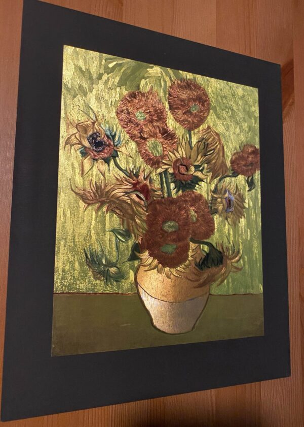 van-gogh-sunflowers-gravure-mettalic-art-3d-light-effect