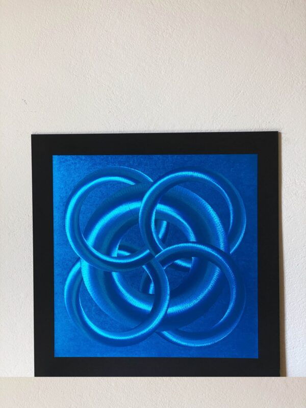abstract-five-circles-blue-40-x-40-gravure-foil-art-etching