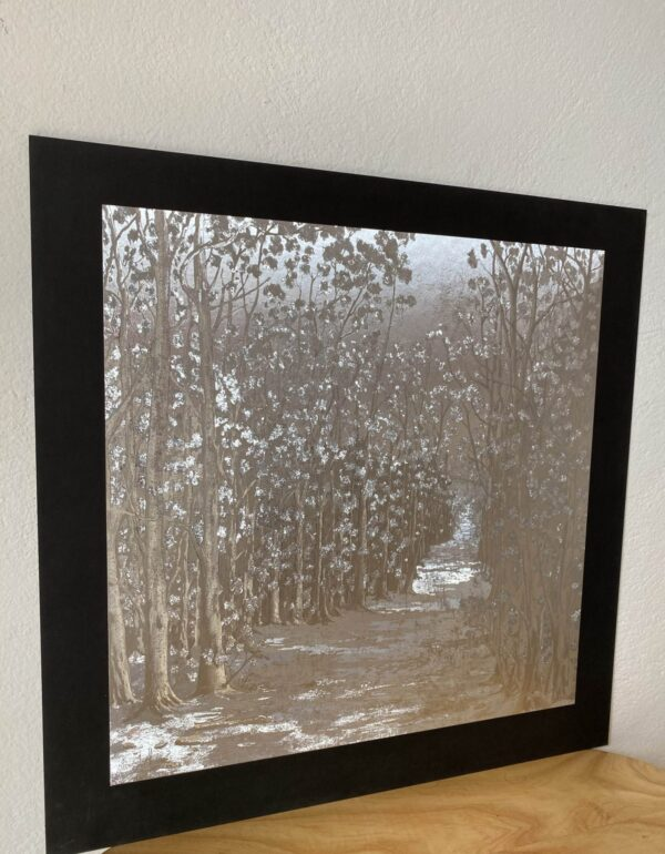 forest-path-silver-40-x-40-gravure-foil-art-etching