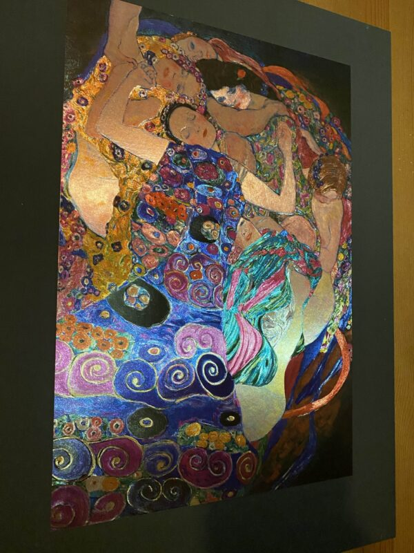 klimt-virgins-gravure-metal-art-3d-light-effect